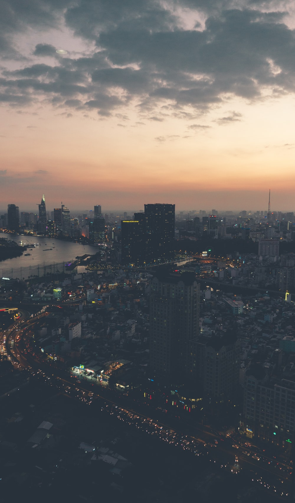 highrise buildings under golden hour