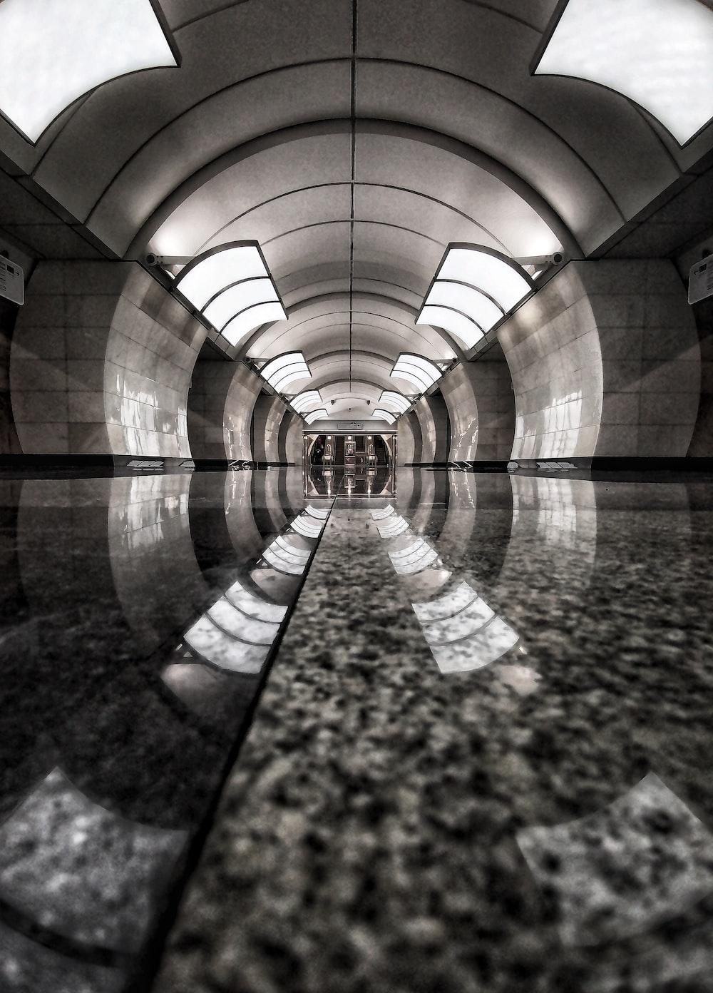 reflection of light in granite texture flooring