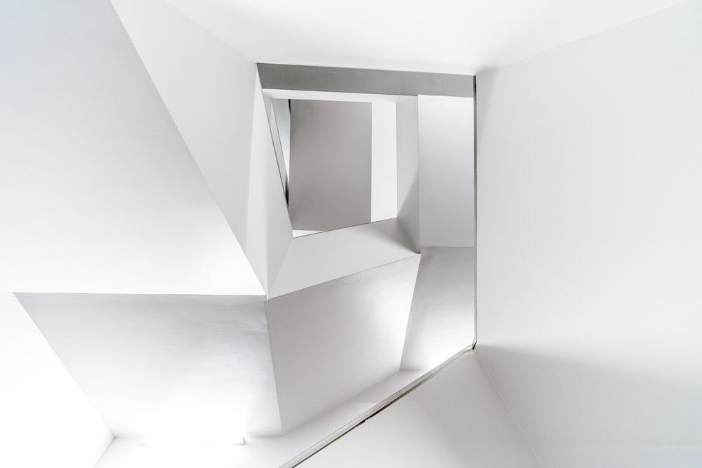 white wall mirror