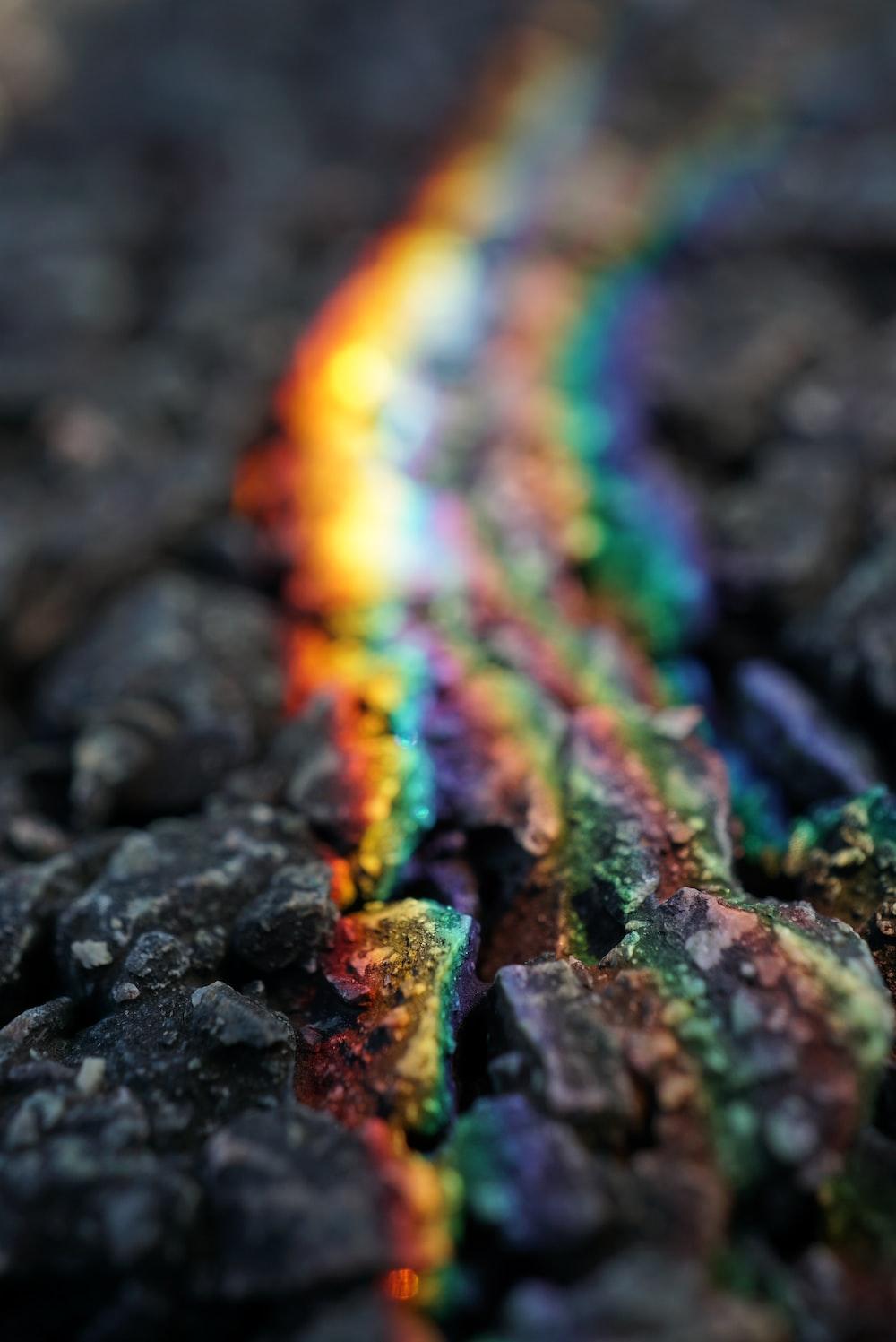 rainbow-colored stone