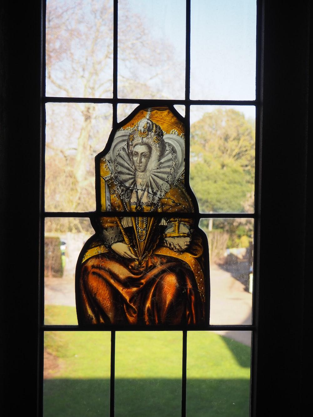 religious stein glass view