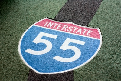interstate 55 icon on field mississippi teams background