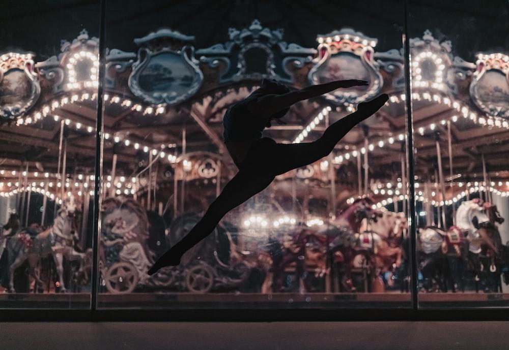 woman ballerina in carousel