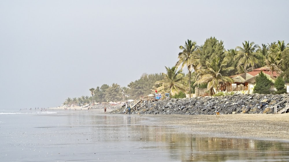 beach near houses