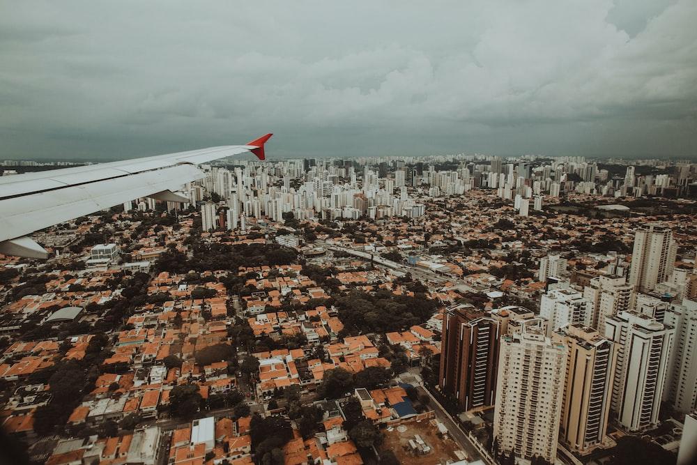 plane view of a city