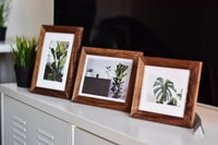 Wooden Picture Frame made from Solid Walnut by londonwood.co
