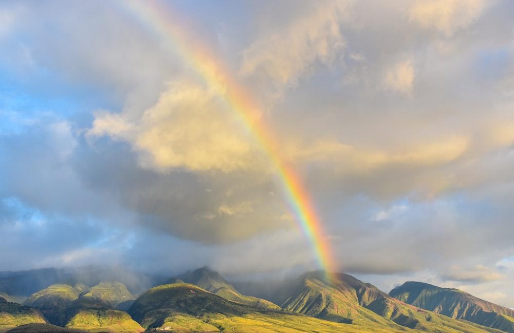 rainbow on sky