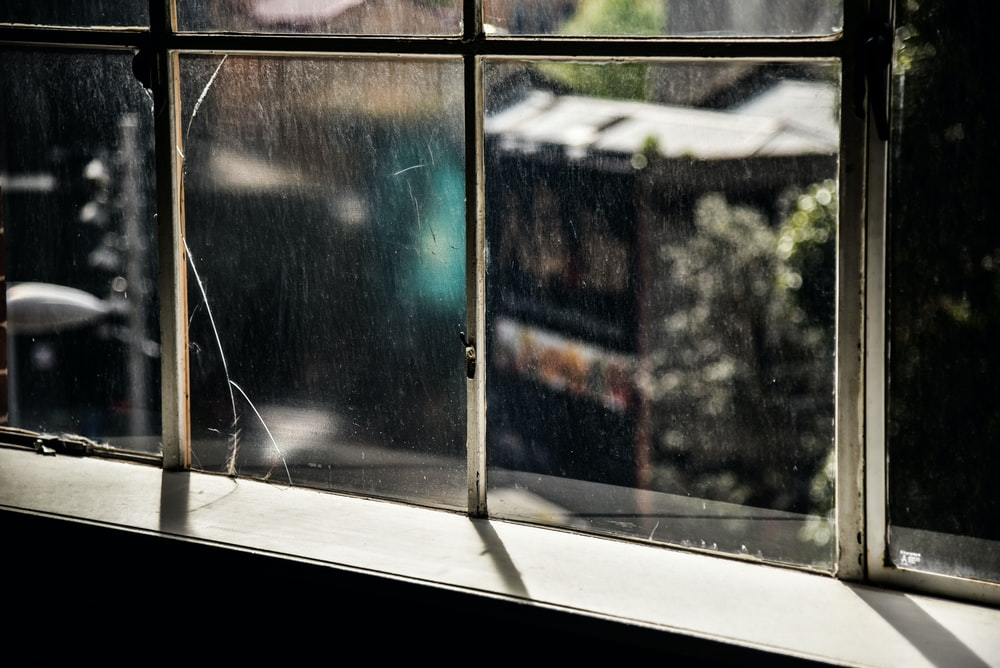 brown windowpane