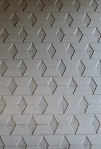 gray diamond plated wall