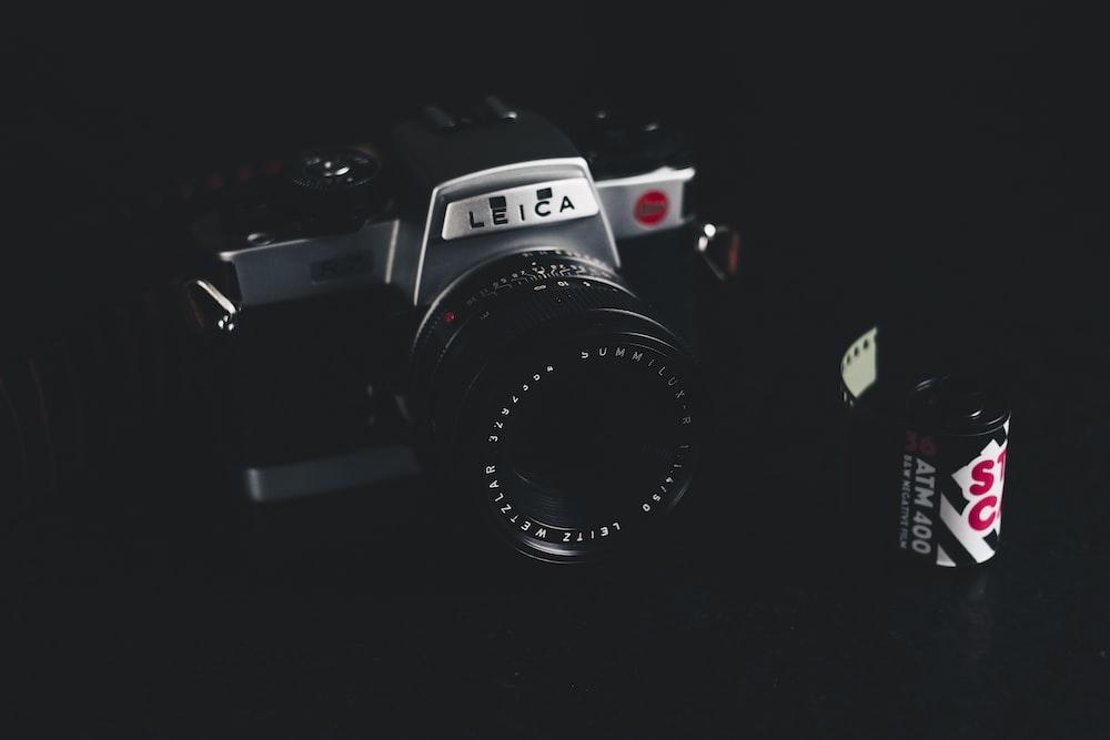 black Leica film camera