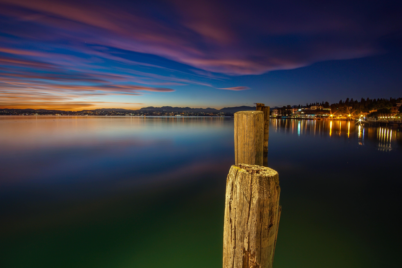 brown dock on water