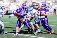 men playing American football during daytime
