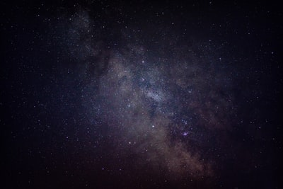 view of purple milky way at the sky mars teams background