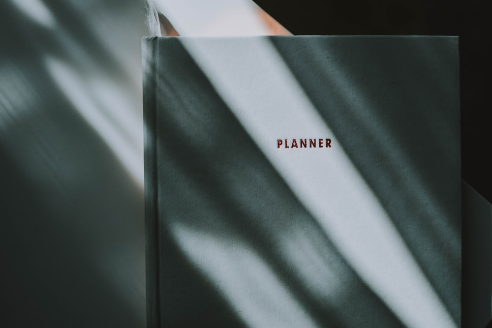 closed Planner book