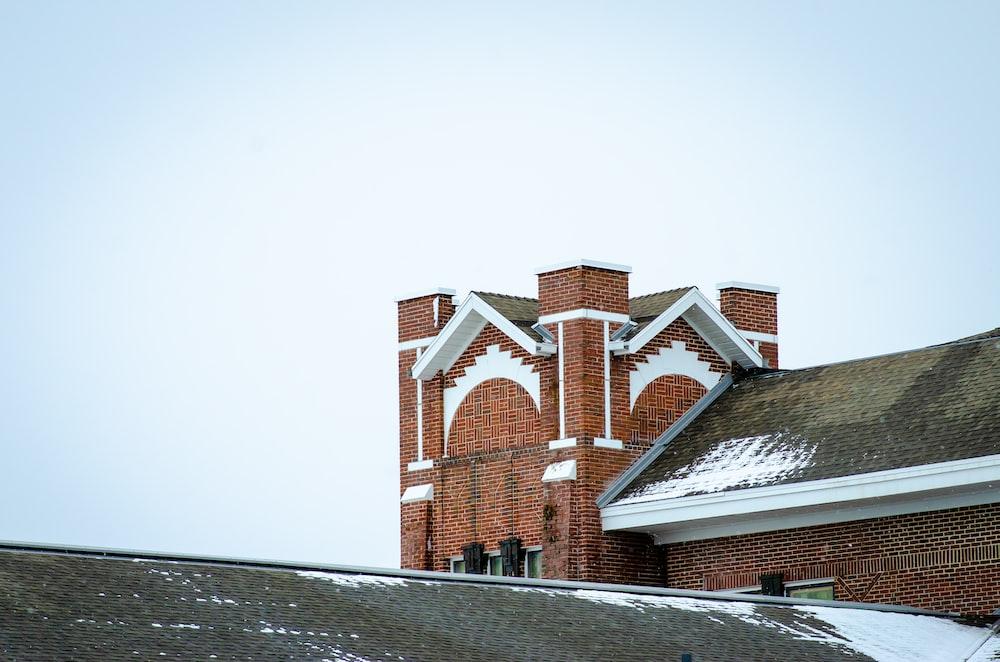 brown brick castle
