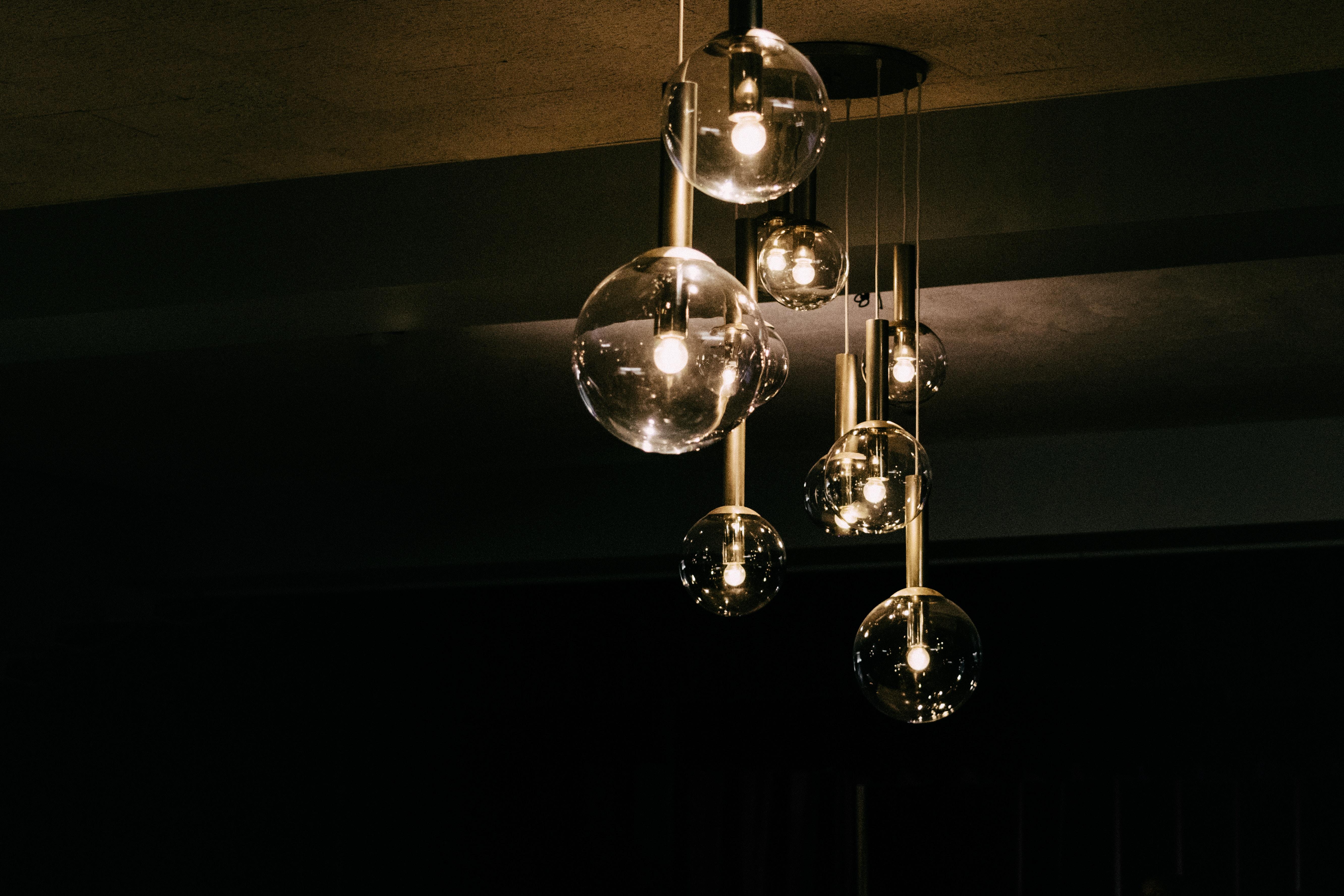globe glass pendant ceiling lamp