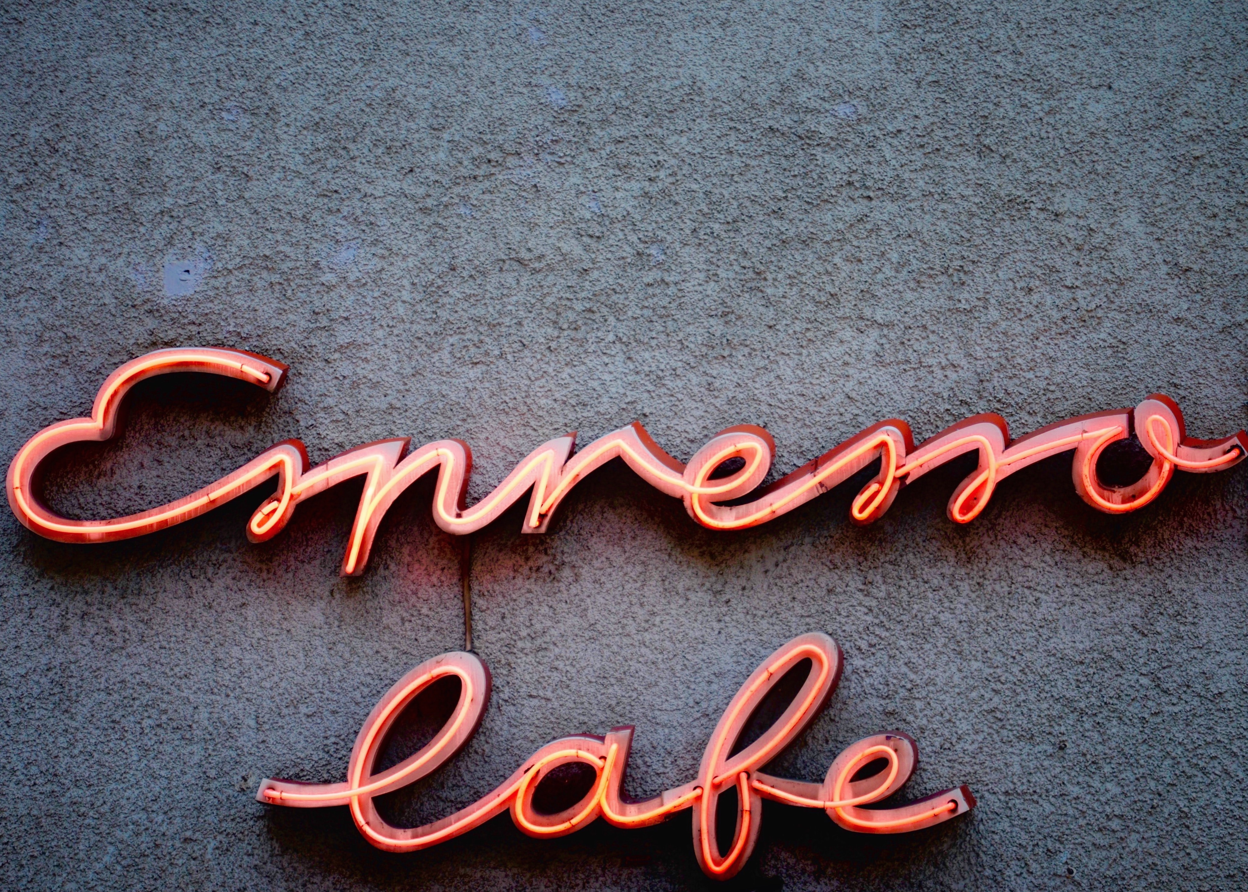 red neon light sign