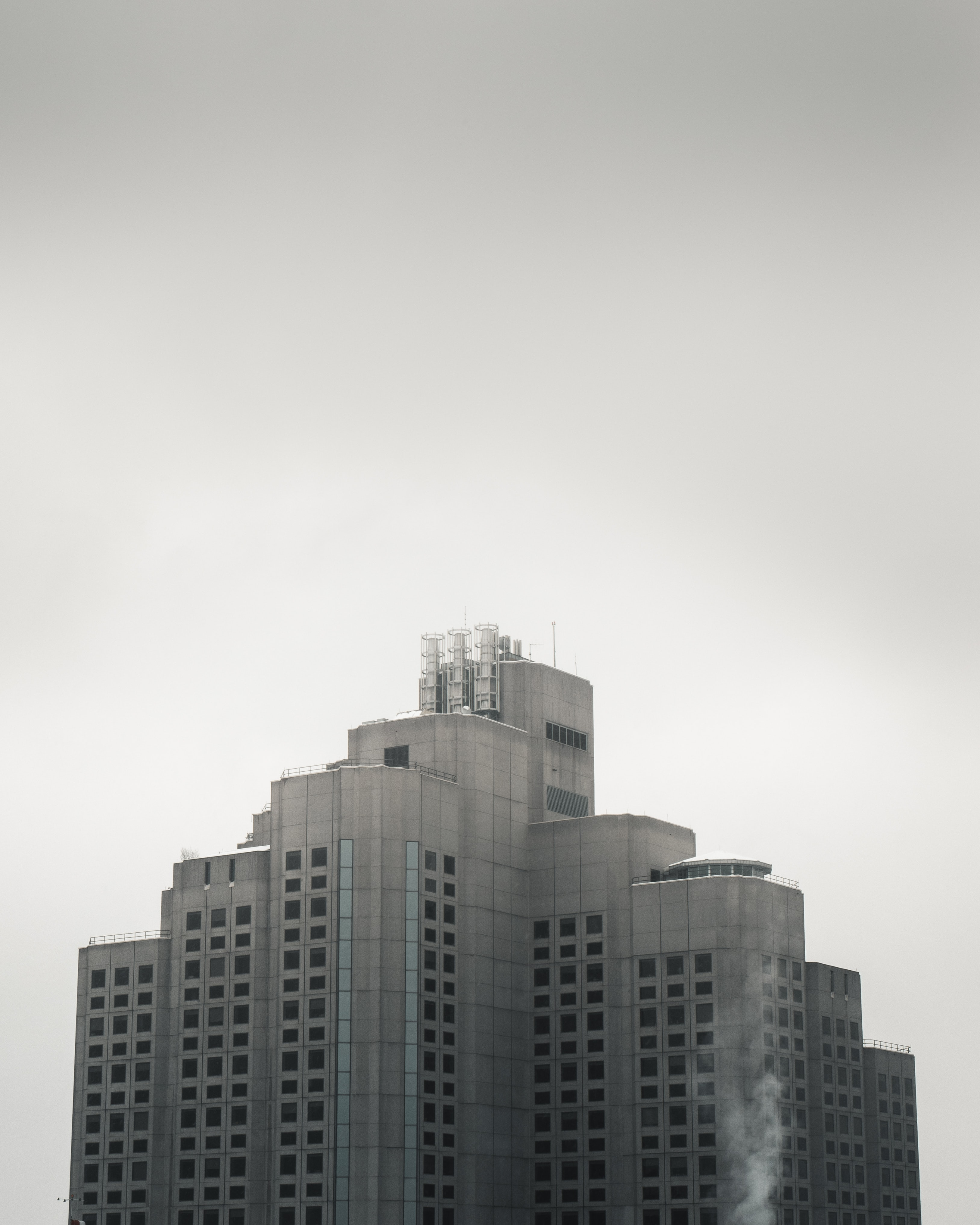areal photo of white and gray concrete building