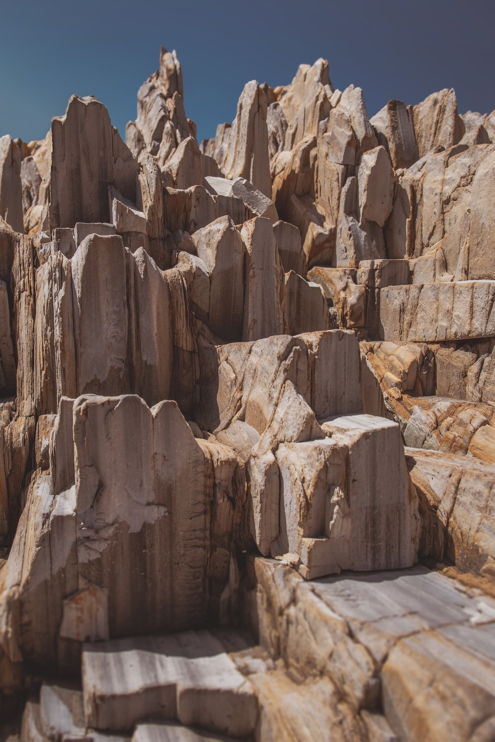 landscape photography of brown rock formations