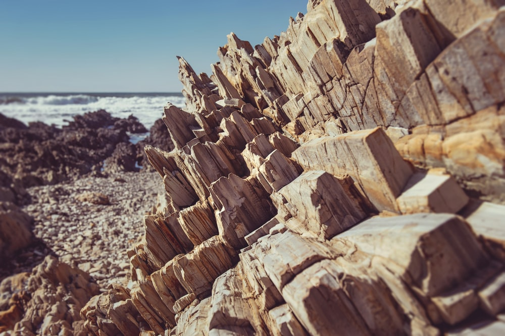 view of rock formation at the beach
