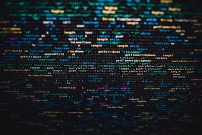 computer code on screen programming zoom background
