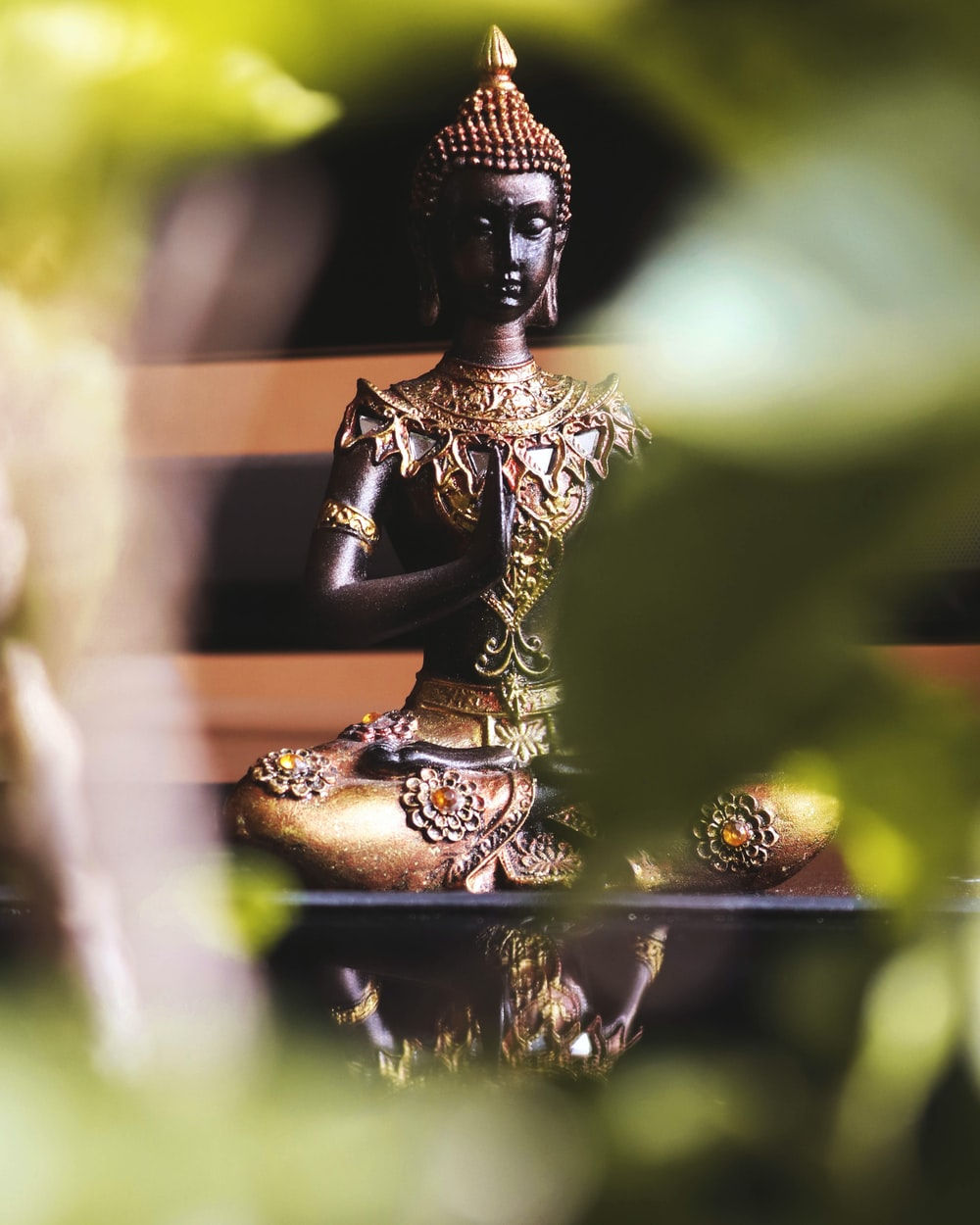 golden Buddha figurine