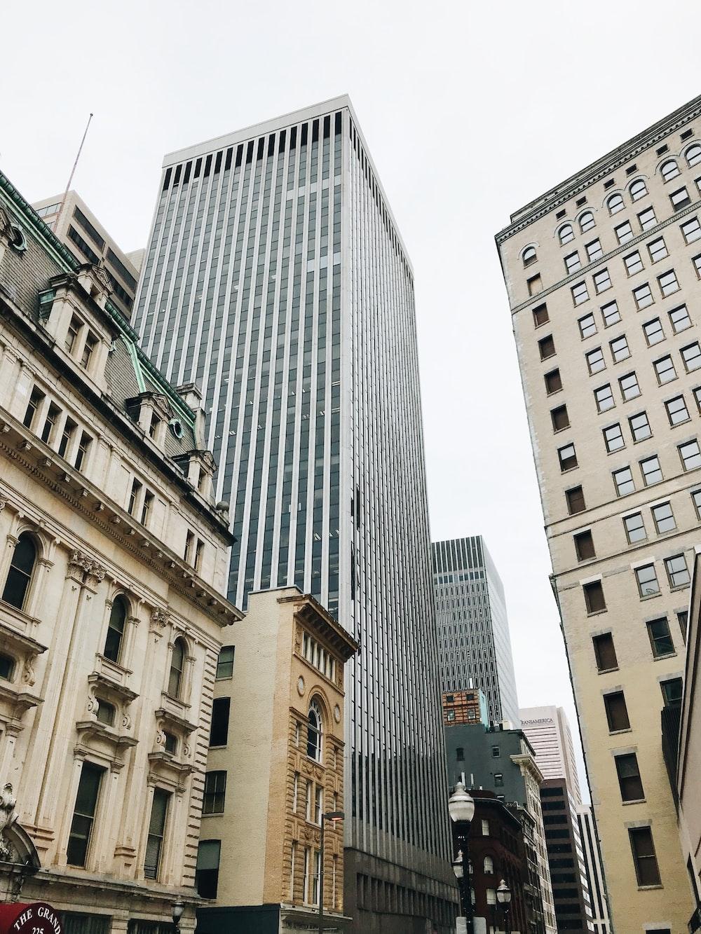 high rise city buildings