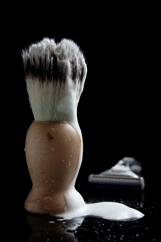 foam on makeup brush