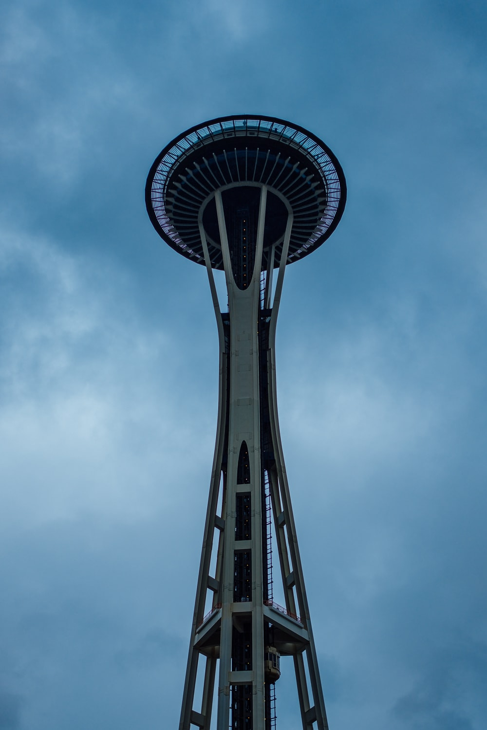 low angle photo of space needle
