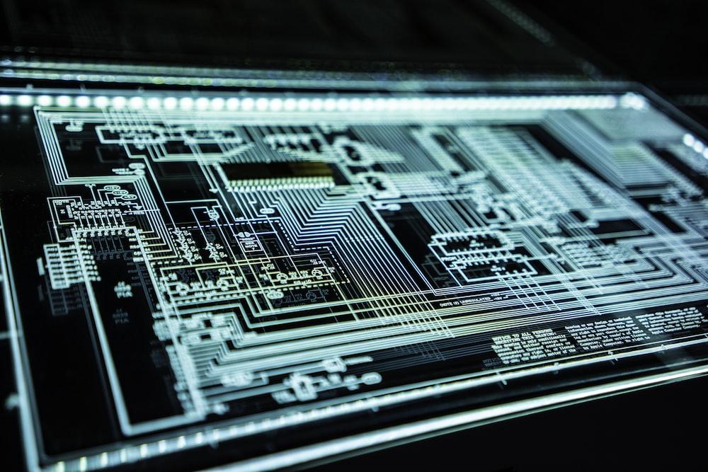 teal LED panel