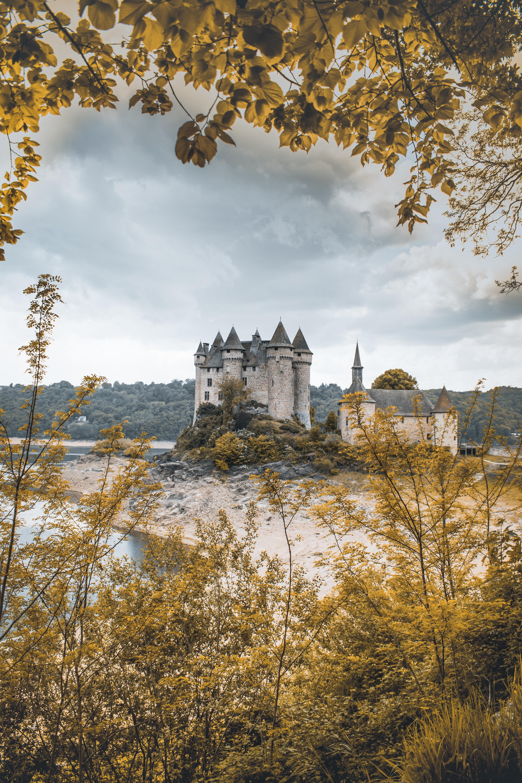 gray castle under gray sky