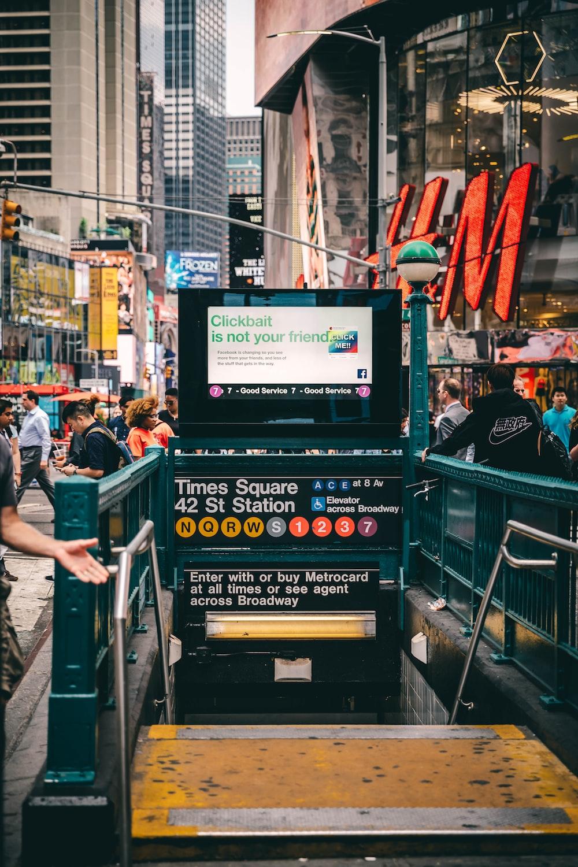 green underground subway