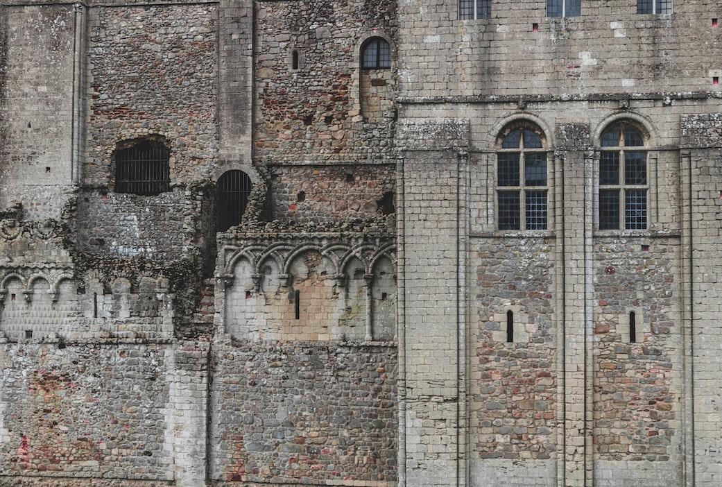 Ruins of buildings in England