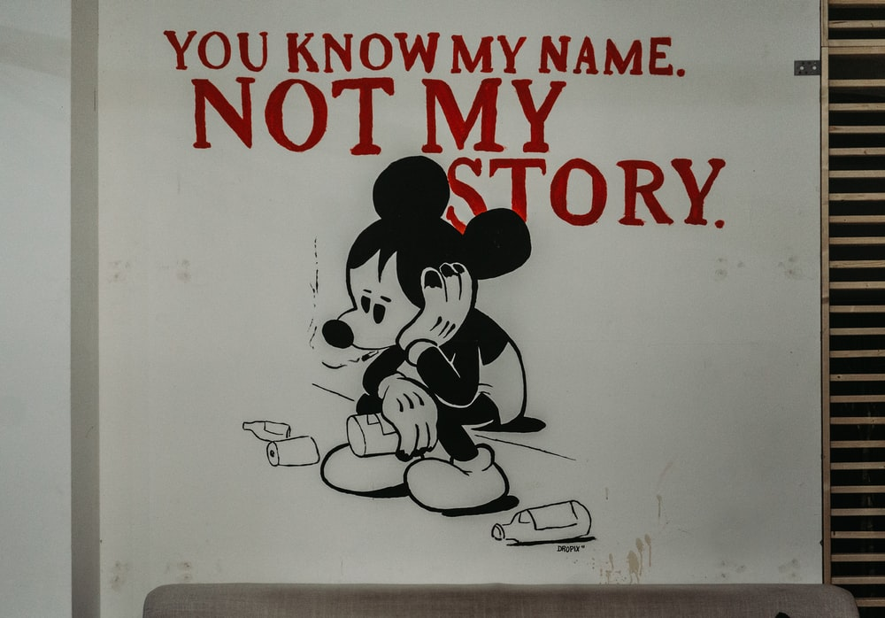 Mickey Mouse lonely poster