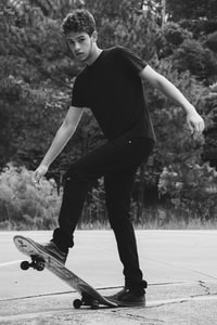 man playing skateboard