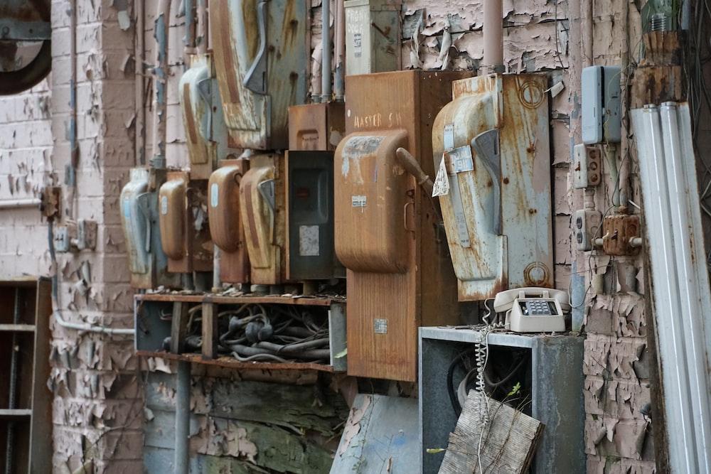brown steel power box