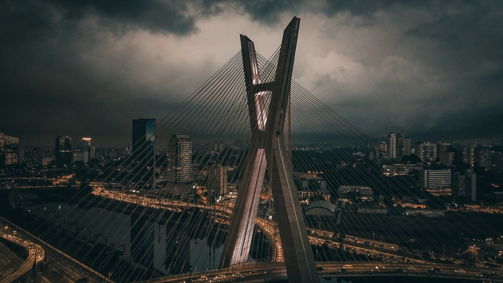 view of cable-stayed bridge