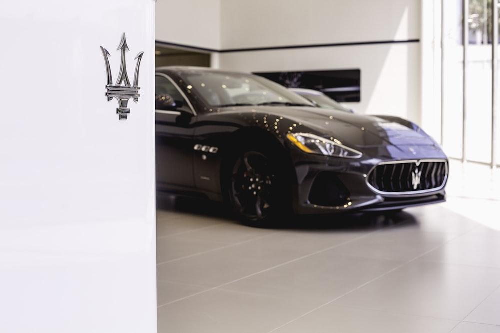 black Maserati vehicle