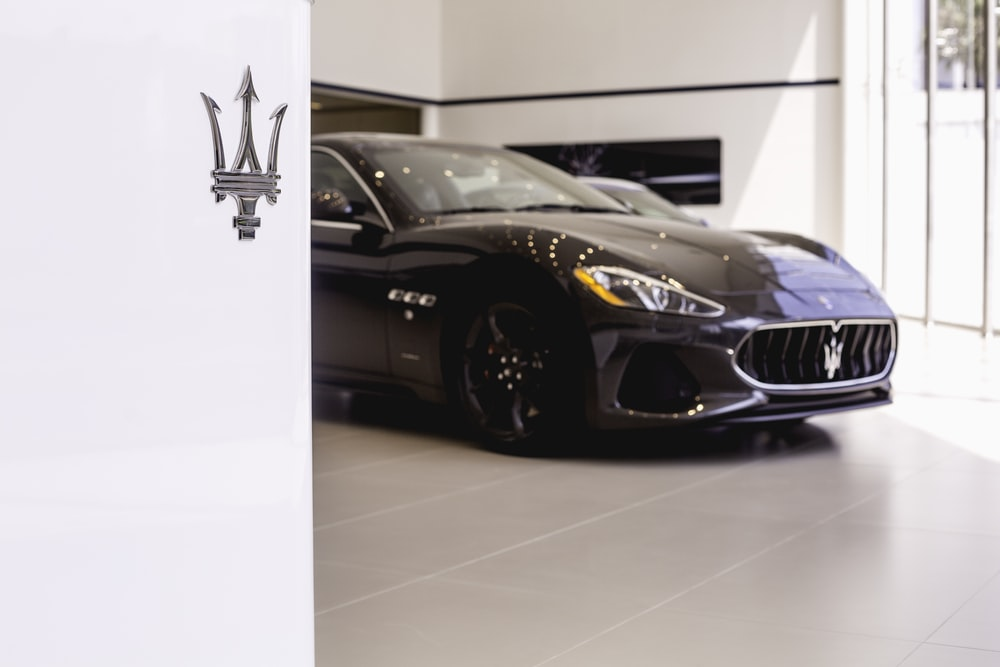 black Maserati vehicle