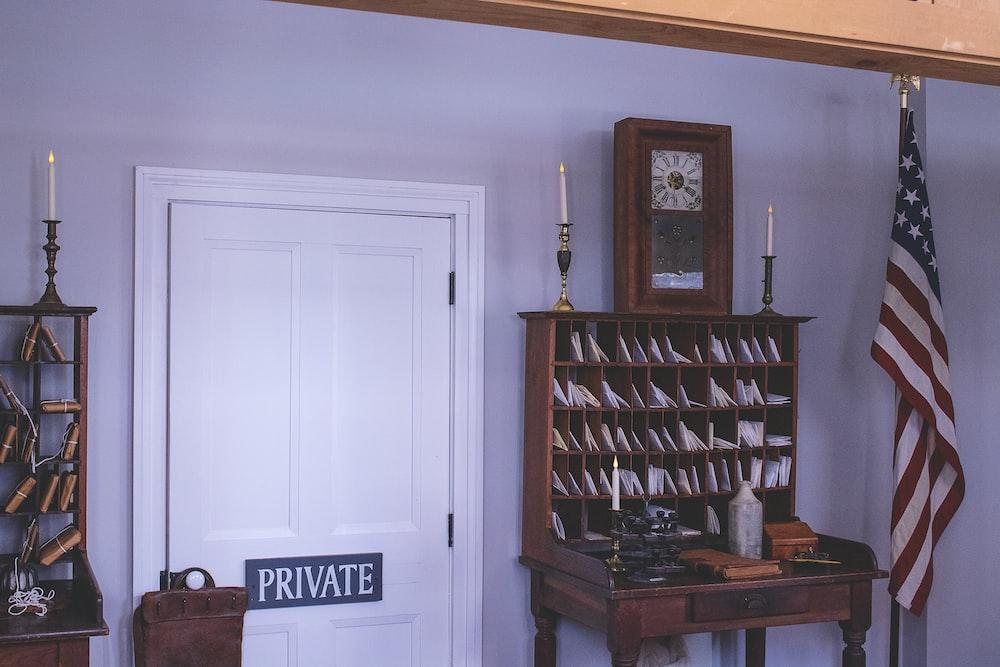 closed door white wooden door