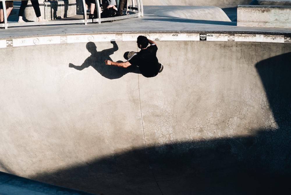 man skating during daytime