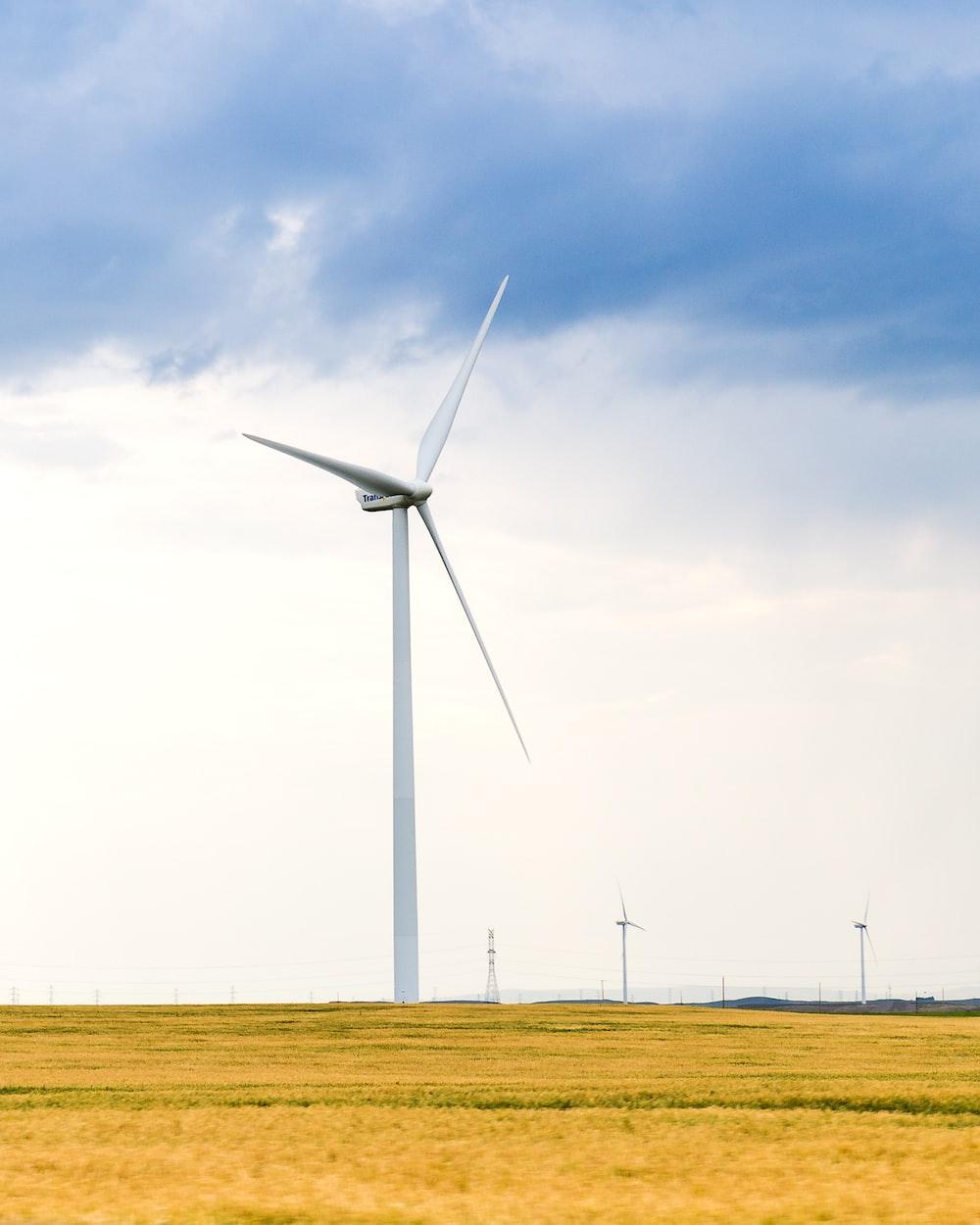 white wind turbine