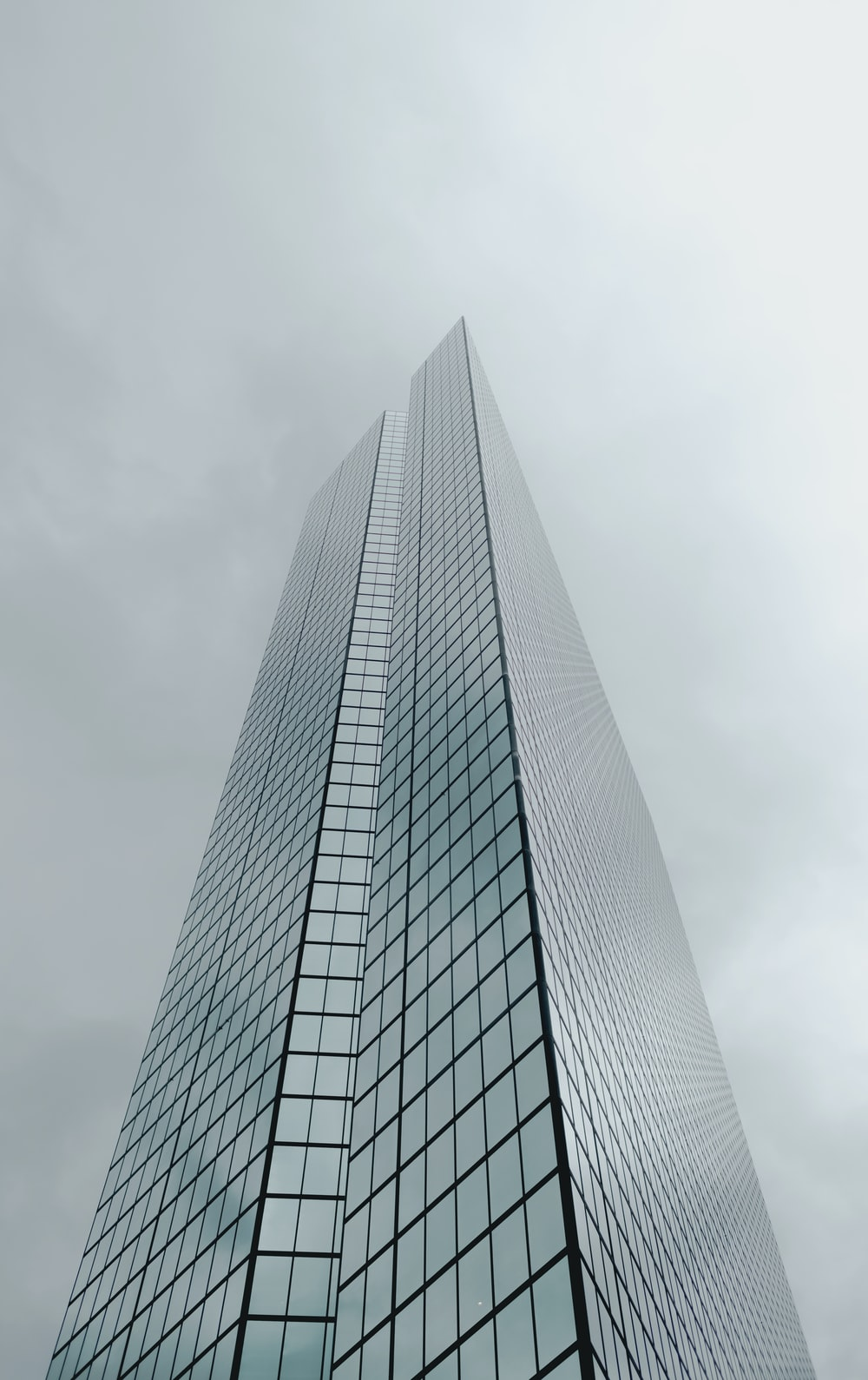 low angle photography of concrete building