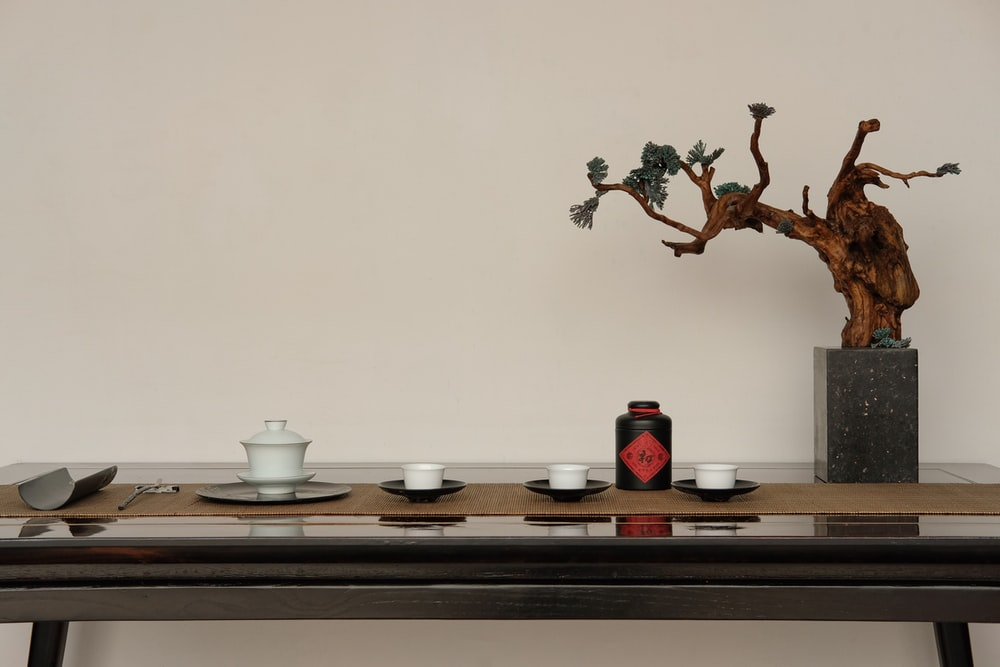 brown bonsai on top of table