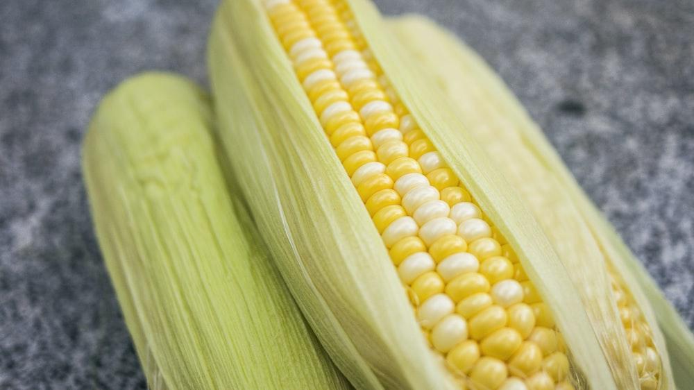 yellow-and-green corns