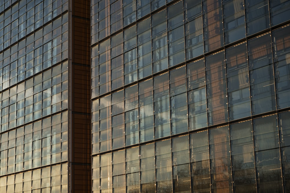 view of glass building