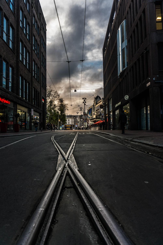 black concrete road path