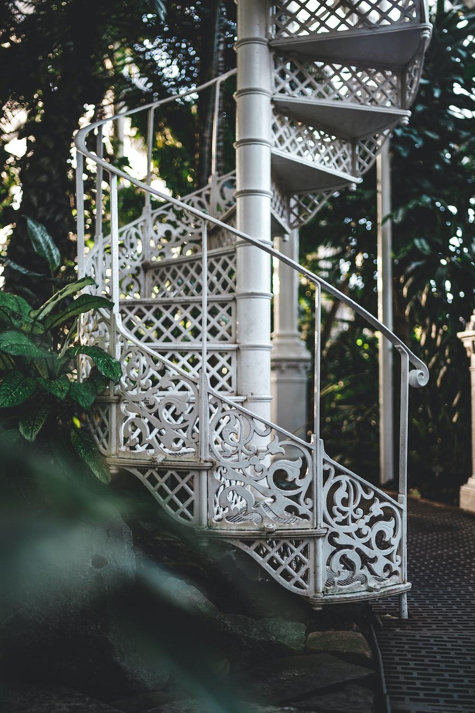 white metal stair during daytime