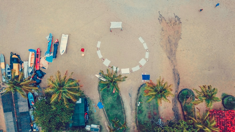 aerial ocean seashore