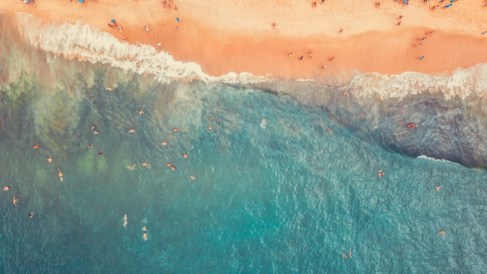 aerial seashore beach